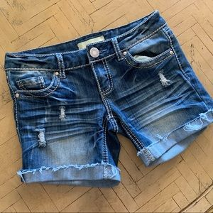 Almost Famous Premium Jean Shorts Distressed 3